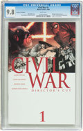 Modern Age (1980-Present):Science Fiction, Civil War #1 Director's Cut Edition (Marvel, 2006) CGC NM/MT 9.8White pages....