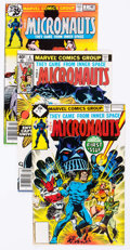 Modern Age (1980-Present):Science Fiction, Micronauts Group of 68 (Marvel, 1979-84) Condition: AverageFN/VF.... (Total: 68 Comic Books)