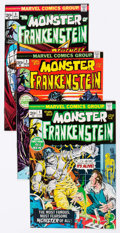 Bronze Age (1970-1979):Horror, Frankenstein Near-Complete Series Group of 17 (Marvel, 1973-75)Condition: Average FN/VF.... (Total: 17 Comic Books)