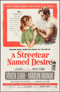 "A Streetcar Named Desire (Warner Brothers, 1951). One Sheet (27"" X 41""). Drama"