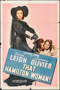"Movie Posters:Drama, That Hamilton Woman (United Artists, 1941). One Sheet (27"" X 41"").Drama.. ..."