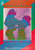 Music Memorabilia:Posters, Youngbloods Avalon Ballroom Concert Poster FD-81 Signed by Artist Victor Moscoso (Family Dog, 1967)....