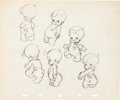 Animation Art:Production Drawing, Wynken Blynken and Nod and others Animator's PracticeDrawings Group of 3 (Walt Disney, c. 1930s).... (Total: 3 Items)