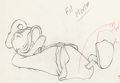 Animation Art:Production Drawing, Officer Duck Donald Duck Animation Drawing (Walt Disney,1939)....