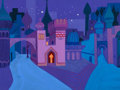 "Animation Art:Painted cel background, 1001 Arabian Nights Concept Painting, Bob ""Yoshi"" Inman(UPA, 1959)...."