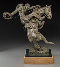 Edward James Fraughton (American, b. 1939) Spirit of Wyoming, 1990 Bronze with light green patina
