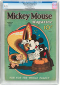 Platinum Age (1897-1937):Miscellaneous, Mickey Mouse Magazine #6 (K. K. Publications/Western PublishingCo., 1936) CGC VG+ 4.5 Off-white to white pages....