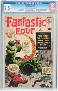 Fantastic Four #1 (Marvel, 1961) CGC GD+ 2.5 Off-white to white pages