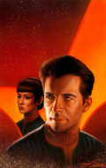 "Original Comic Art:Covers, Keith Birdsong Star Trek: New Frontier #3 ""The Two FrontWar"" Cover Painting Original Art (Pocket Books, 1997)...."