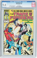 Modern Age (1980-Present):Science Fiction, Transformers #2 (Marvel, 1984) CGC NM 9.4 White pages....