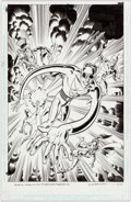 Original Comic Art:Covers, Hilary Barta Plastic Man and the Freedom Fighters #1 CoverOriginal Art (DC, 2015)....