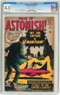 Silver Age (1956-1969):Science Fiction, Tales to Astonish #2 (Marvel, 1959) CGC VG+ 4.5 Cream to off-whitepages....