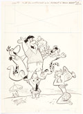 Original Comic Art:Covers, Harvey Eisenberg The Flintstones #29 Cover Original Art(Gold Key, 1965). ...