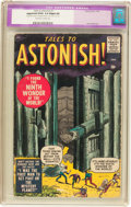 Silver Age (1956-1969):Horror, Tales to Astonish #1 (Marvel, 1959) CGC Apparent GD/VG 3.0 Slight(A) Off-white to white pages....