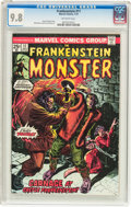 Bronze Age (1970-1979):Horror, Frankenstein #11 (Marvel, 1974) CGC NM/MT 9.8 Off-white pages....