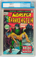 Bronze Age (1970-1979):Horror, Frankenstein #2 Western Penn Pedigree (Marvel, 1973) CGC NM/MT 9.8Off-white to white pages....
