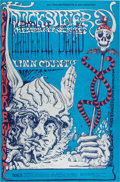 Music Memorabilia:Posters, Grateful Dead/Quicksilver Messenger Service Fillmore West ConcertPoster BG-144 Signed by Artist Lee Conklin (Bill Graham, 196...