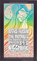 Music Memorabilia:Posters, Otis Rush/Mothers Of Invention Fillmore Auditorium Concert PosterBG-53 Signed by Artist Wes Wilson (Bill Graham, 1967). ...