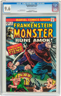 Bronze Age (1970-1979):Horror, Frankenstein #13 (Marvel, 1974) CGC NM+ 9.6 Off-white to whitepages....