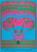 Music Memorabilia:Posters, Doors Avalon Ballroom Concert Poster FD-64 Signed By Victor Moscoso(Family Dog, 1967)....