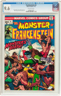 Bronze Age (1970-1979):Horror, Frankenstein #4 (Marvel, 1973) CGC NM+ 9.6 Off-white pages....
