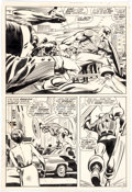 Original Comic Art:Panel Pages, Gene Colan and Joe Sinnott Captain America #118 Page 11Original Art (Marvel, 1969)....