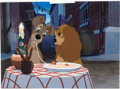 "Animation Art:Production Cel, Lady and the Tramp ""Bella Notte"" Production Cel Setup (WaltDisney, 1955)...."