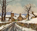 Fine Art - Painting, European:Contemporary   (1950 to present)  , Paulémile Pissarro (French, 1884-1972). Neige à Asquins. Oilon canvas. 21-1/2 x 25-1/2 inches (54.6 x 64.8 cm). Signed ...