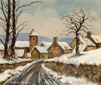 Paulémile Pissarro (French, 1884-1972) Neige à Asquins Oil on canvas 21-1/2 x 25-1/2 inches (54.6