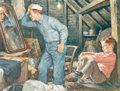 Paintings, Amos Sewell (American, 1901-1983). Role Model. Gouache on board. 22-1/2 x 30 inches (57.2 x 76.2 cm) (sight). Signed low...