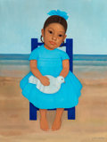 Fine Art - Painting, American, Gustavo Montoya (Mexican, 1905-2003). Hija Sentada en Silla,1969. Oil on canvas. 24 x 18 inches (61.0 x 45.7 cm). Signe...