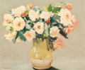 Fine Art - Painting, European:Contemporary   (1950 to present)  , Michel Dureuil (French, b. 1929). Vase de Roses, 1961. Oilon canvas. 15-1/4 x 18-1/4 inches (38.7 x 46.4 cm). Signed lo...