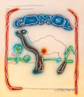 Prints & Multiples, Larry Rivers (American, 1925-2002). Stencil Camel, 1978. Lithograph in colors with pochoir on acetate. 25 x 21-1/2 inche...