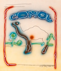 Larry Rivers (American, 1925-2002) Stencil Camel, 1978 Lithograph in colors with pochoir on acetate<