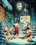 Memorabilia:Disney, Carl Barks A Christmas Trimming Signed Gold Plate Limited Edition Miniature Lithograph Print #PR9 (Another Rainbow...