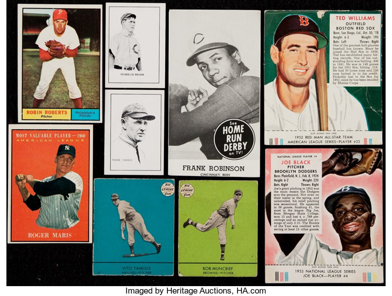 1940s 1970s Baseball Card Collection 160