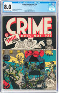 Golden Age (1938-1955):Crime, Crime Does Not Pay #28 (Lev Gleason, 1943) CGC VF 8.0 Off-white to white pages....