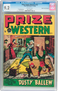 Prize Comics Western #72 Mile High Pedigree (Prize, 1948) CGC NM- 9.2 Off-white pages