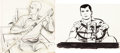Animation Art:Concept Art, Jonny Quest Race Bannon Layout Drawing (Hanna-Barbera, 1964).... (Total: 2 Original Art)
