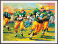 Football Collectibles:Photos, Jerry Kramer Signed Green Bay Packers Lithograph. ...