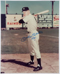 "Autographs:Photos, Mickey Mantle Signed and Inscribed ""1951"" Oversized Photograph...."