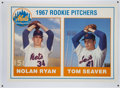 Baseball Collectibles:Photos, Nolan Ryan and Tom Seaver Oversized Rookie Card....