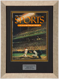 """Baseball Collectibles:Publications, 1954 First """"Sports Illustrated"""" Magazine Display. ..."""