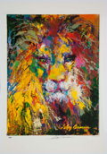 "Autographs:Others, LeRoy Neiman Signed ""Portrait of the Lion"" Poster. ..."