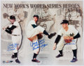 Autographs:Photos, New York's World Series Heroes Multi Signed & Inscribed Oversized Photograph - Featuring Larsen, Podres, and Rhodes....