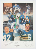 Football Collectibles:Photos, New York Giants Great Signed Lithograph. ...