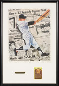 Autographs:Others, Mickey Mantle Hall of Fame Postcard Display. ...