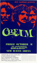 Music Memorabilia:Posters, Cream New Haven Arena Concert Poster (Dick Sandhaus Presents,1968). ...