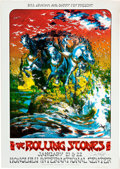 Music Memorabilia:Posters, Rolling Stones Honolulu International Center Concert Poster SignedBy David Singer AOR-4.147 (Bill Graham and Barry Fey Presen...