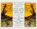 Music Memorabilia:Posters, Chuck Berry/Buddy Miles/Eric Burden and War Fillmore West ConcertPoster BG-250 Signed By David Singer (Bill Graham, 1970)....
